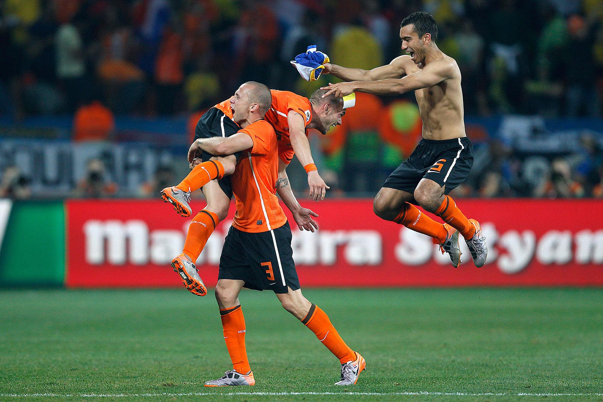 Voetballers na goal