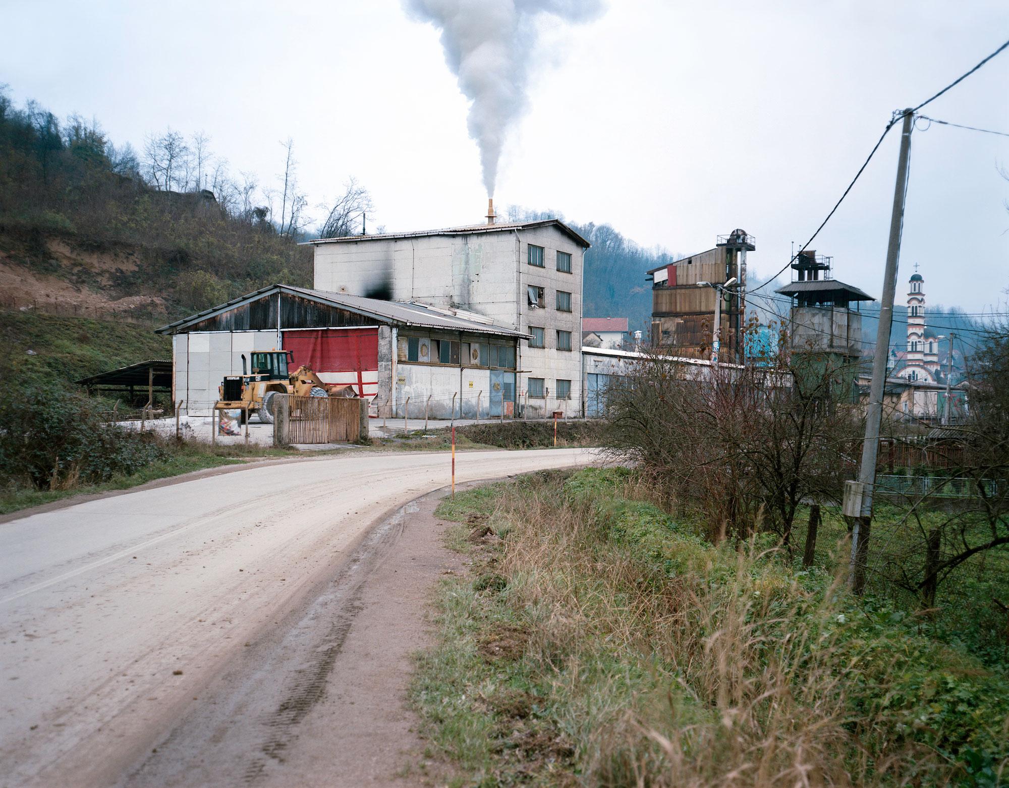 Foto van weg in Bosnie