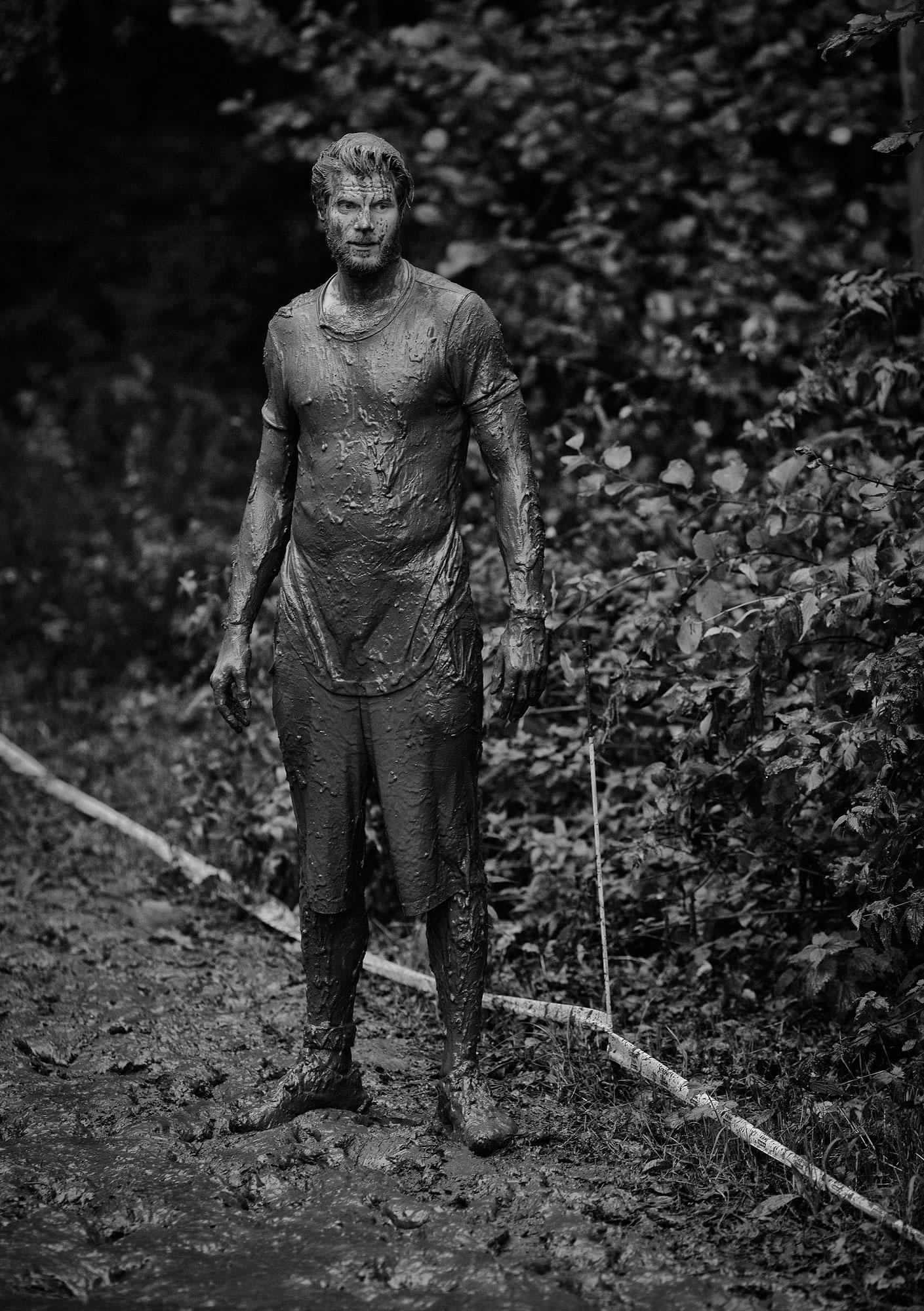Strong Viking met modder
