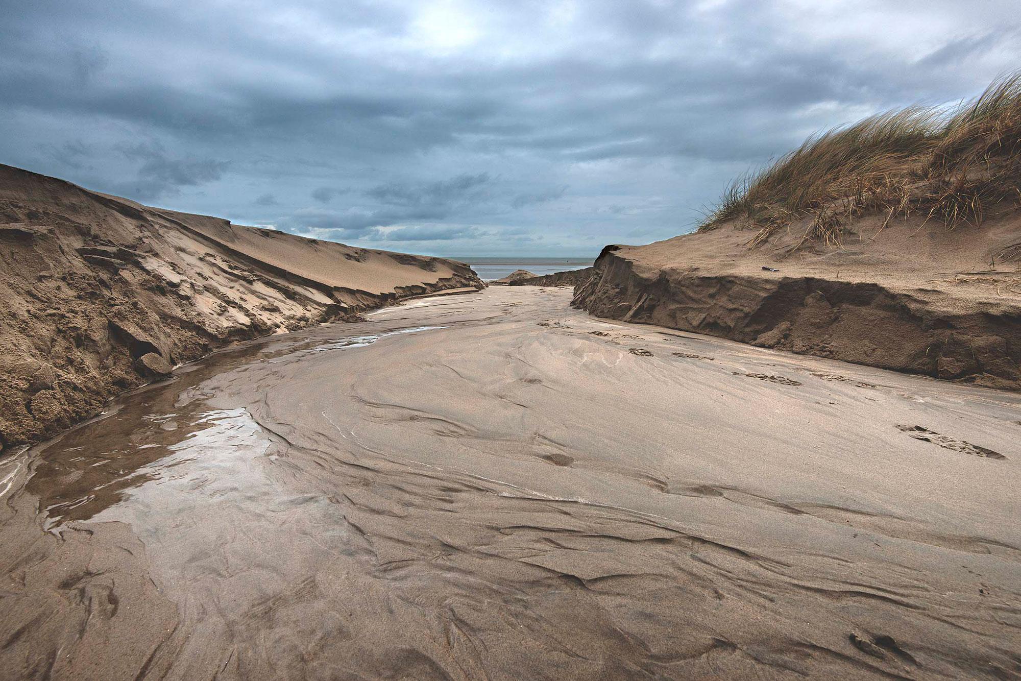 Foto van kust in Holland