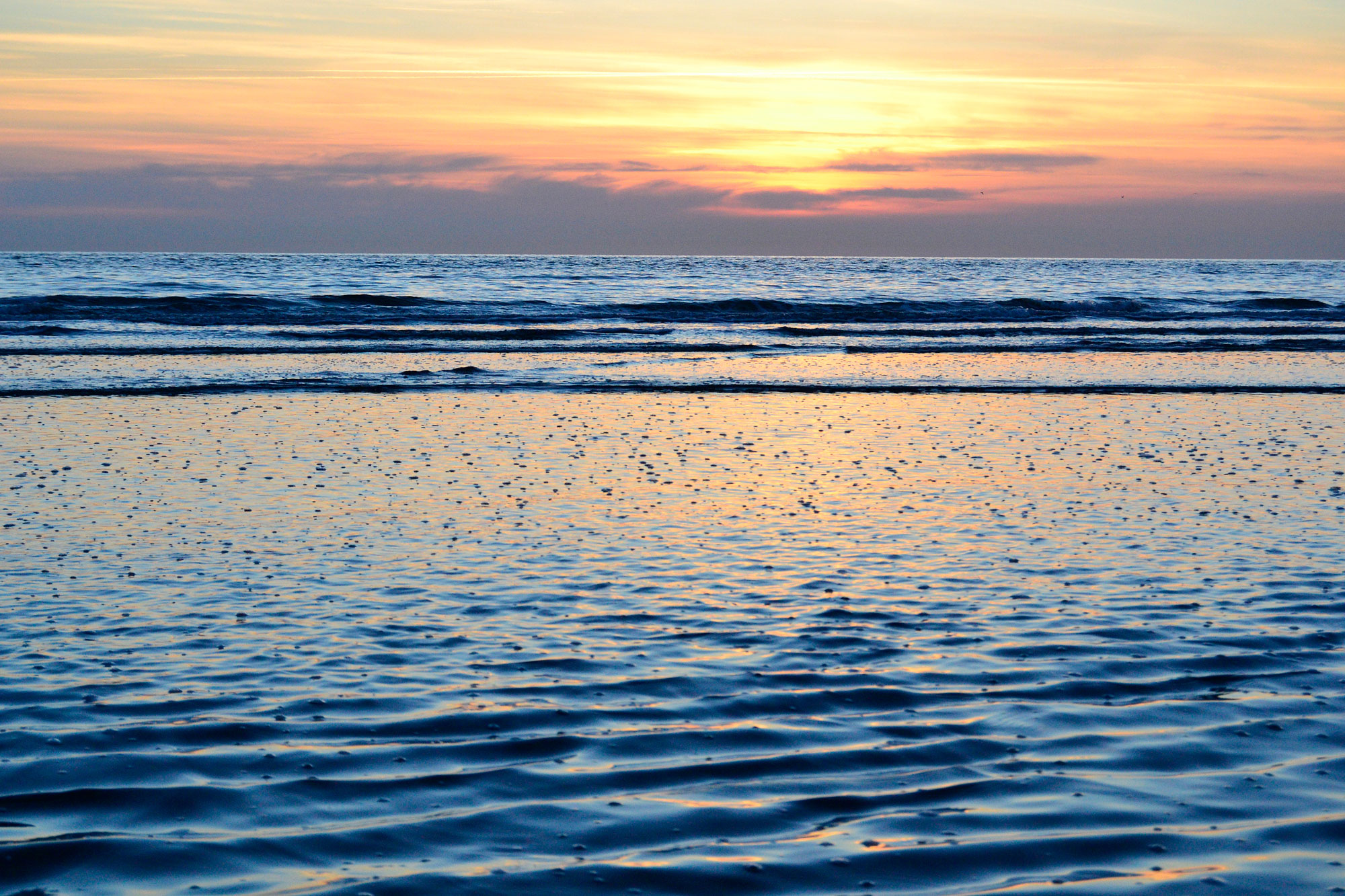 Ameland zeezicht en zonsondergang