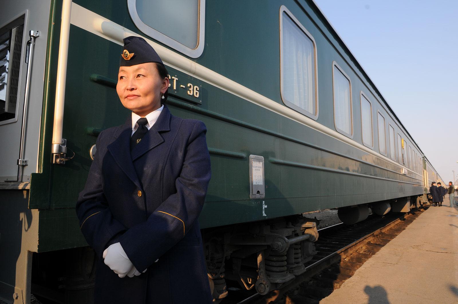 De Trans-Siberië Express in Mongolië.