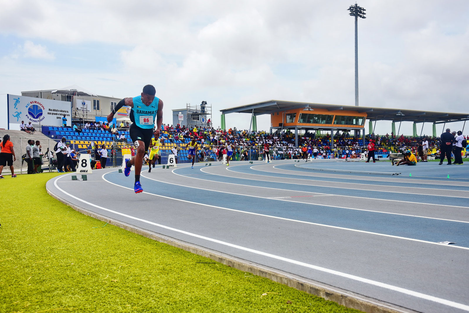 The start of the 800 meters race during the Carifta 2017 games held in Curacao.