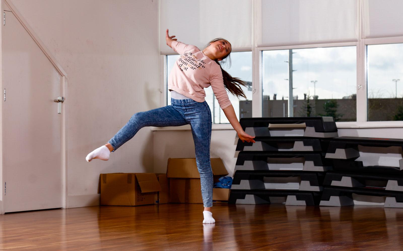 Belangrijk onderdeel in acrobatiek is expressie.