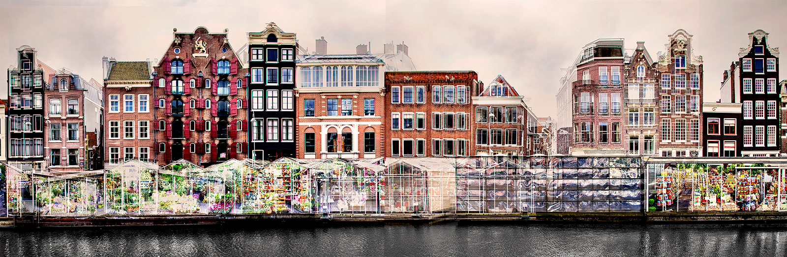 Amsterdam in verschillende kleuren