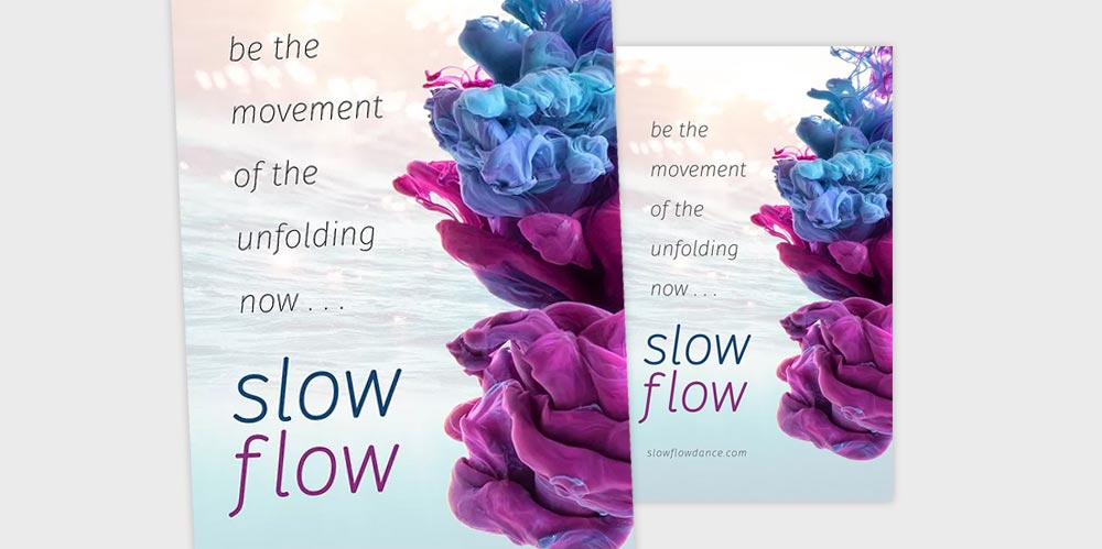 Slowflow dance poster