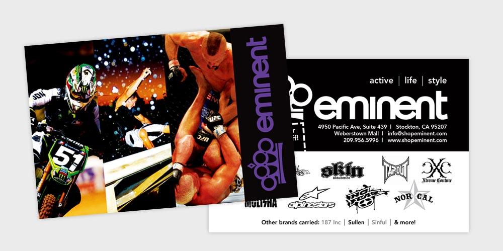Eminent postcard design