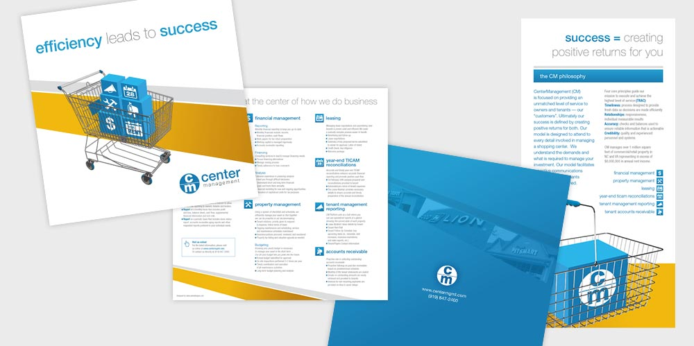 Center Management brochure design