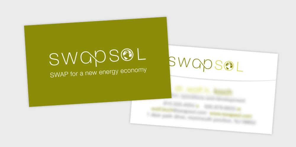 Swapsol business card design