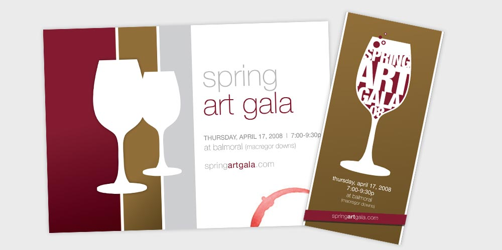 Spring Art Gala mailer