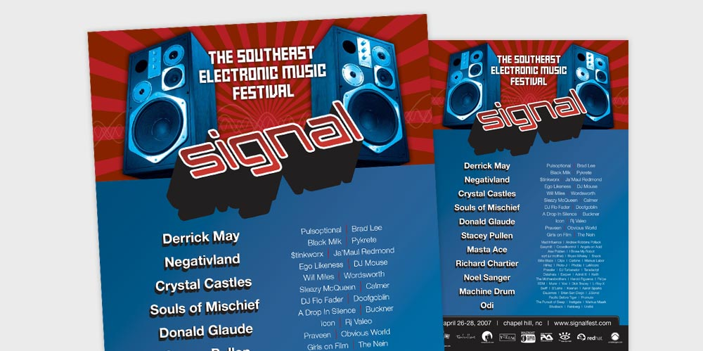 SignalFest poster design