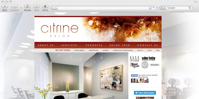 Citrine Salon website