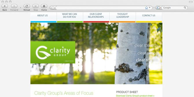 Clarity Group website