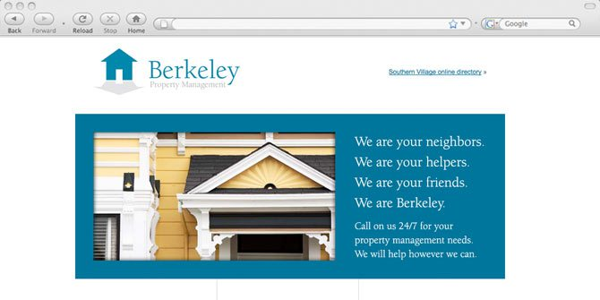 Berkeley Property Management website