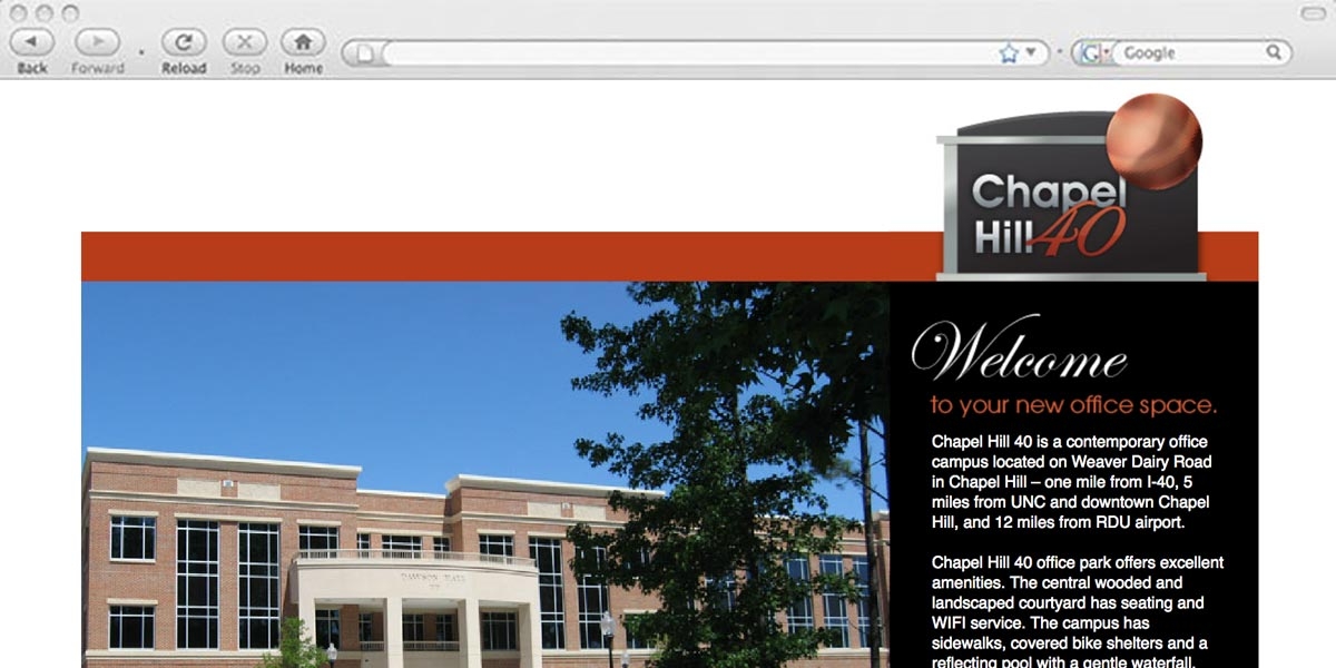 Chapel Hill 40 website