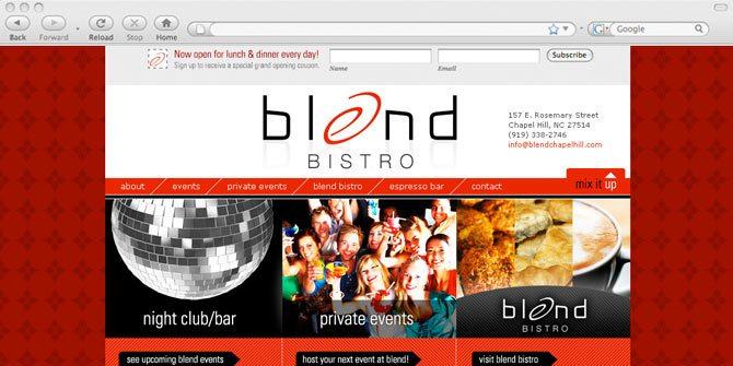 Blend Bistro website