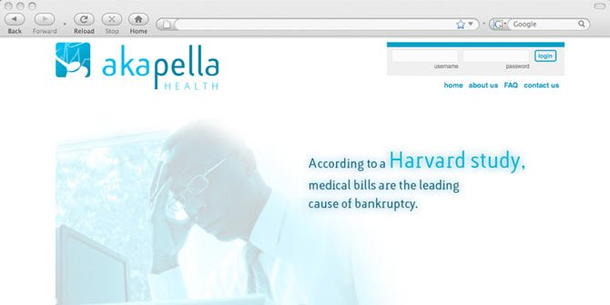 Akapella Healthcare website