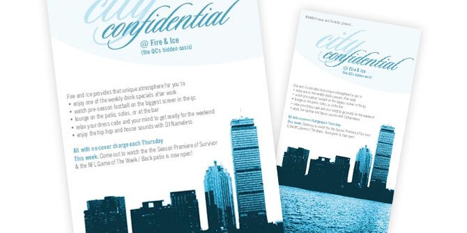 Citi Confidential flyer design