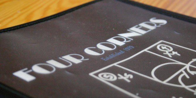 Four Corners menu design