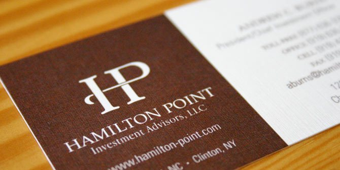 HP business card design