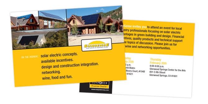 Sunsense postcard design