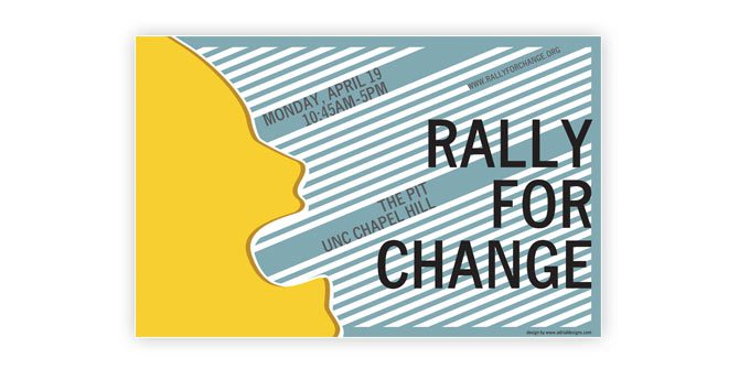 Rally for Change poster
