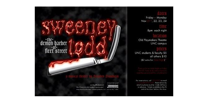 Sweeney Todd poster design