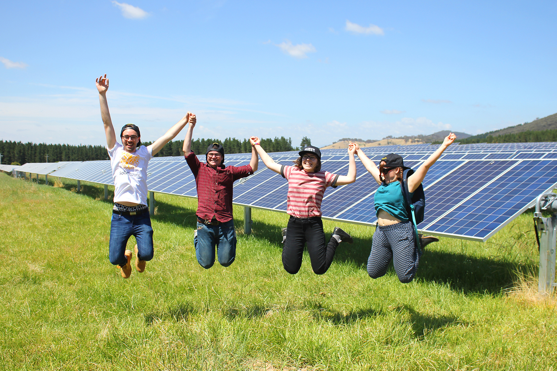 Future Super members at Mount Majura Solar Farm, ACT (Renewable Energy Day, 2016)