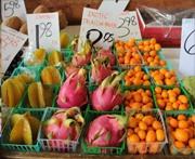 fresh farmers market veggies