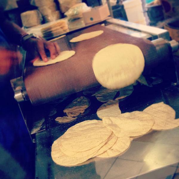 fresh made tortillas