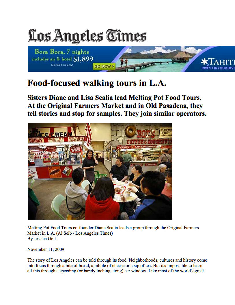 FOOD-FOCUSED WALKING TOURS IN L.A.