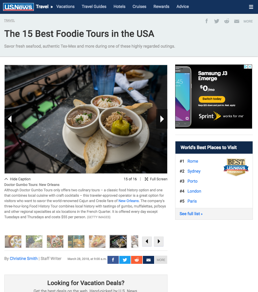 the 15 best foodie tours in the USA