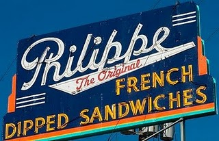 philippe french dipped sandwiches sign