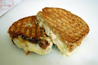 Grilled Pear Sandwich, with Cantalet Cheese