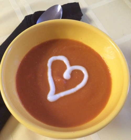 Creamy Carrot Soup with Ginger and Lemon
