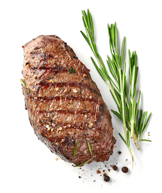 steak with grill marks