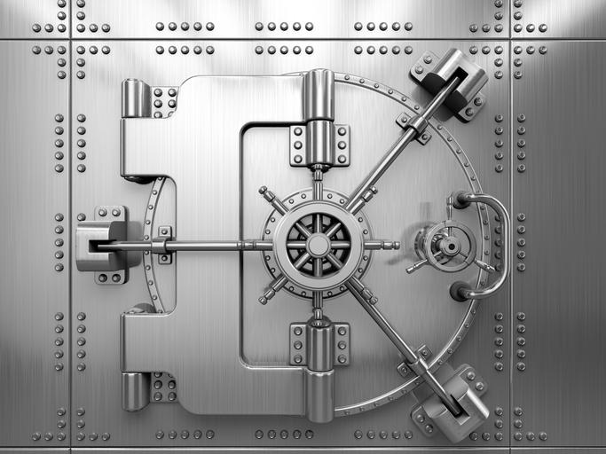 a closed vault