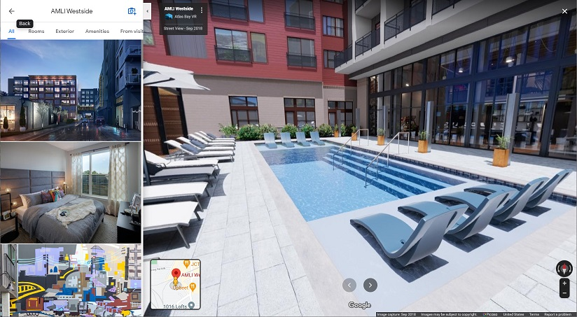 Our 3D rendered content shown on Google Maps