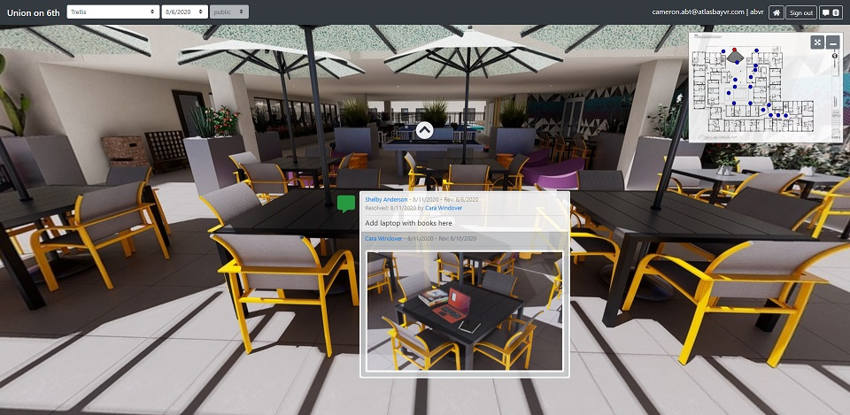A view of our collaborative design and review tool called Sizzle