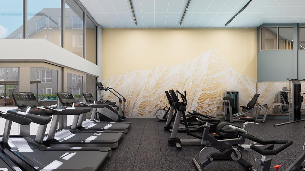 A fitness center wall covering option 2