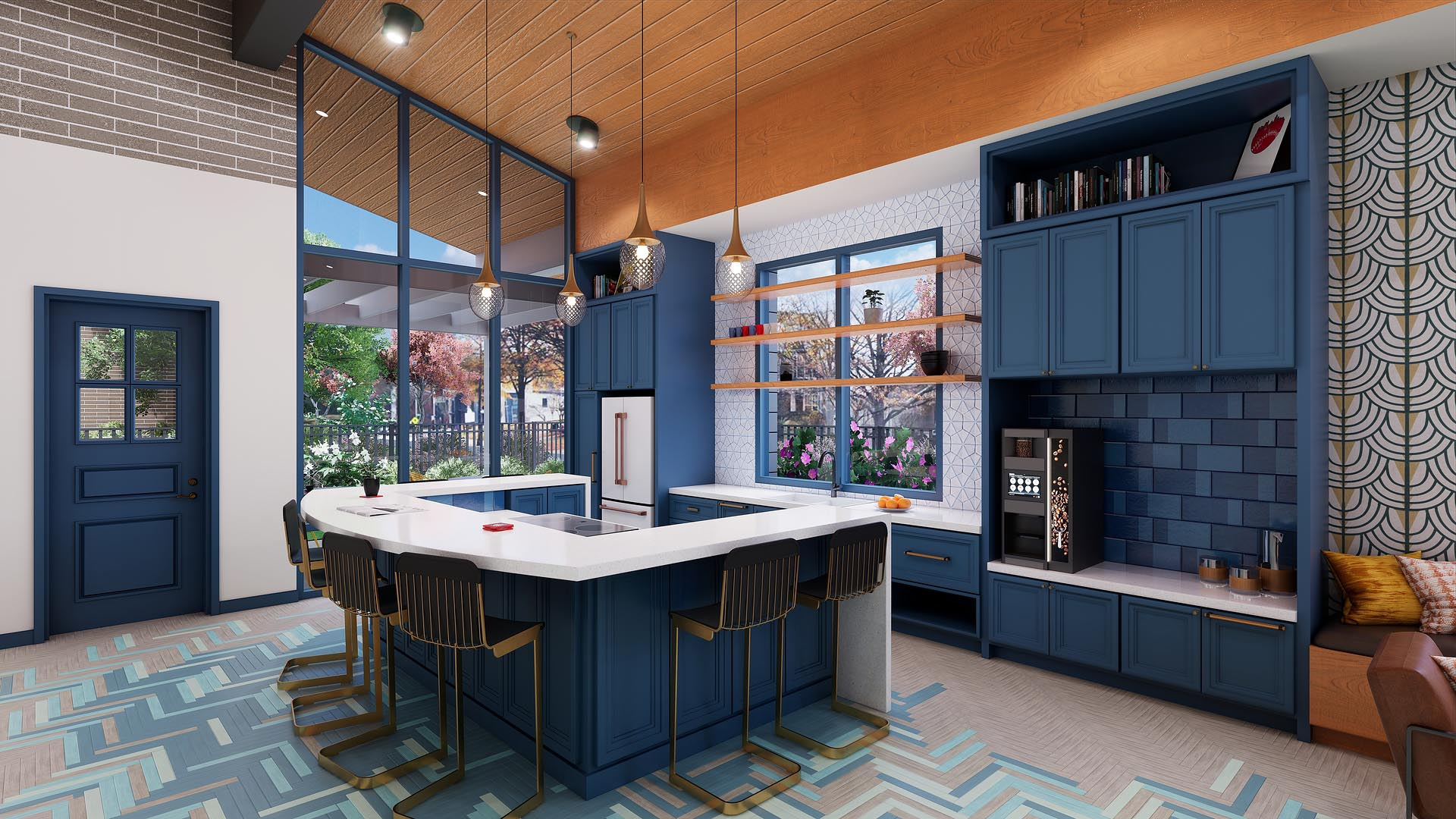 An apartment clubhouse luxury chef's kitchen