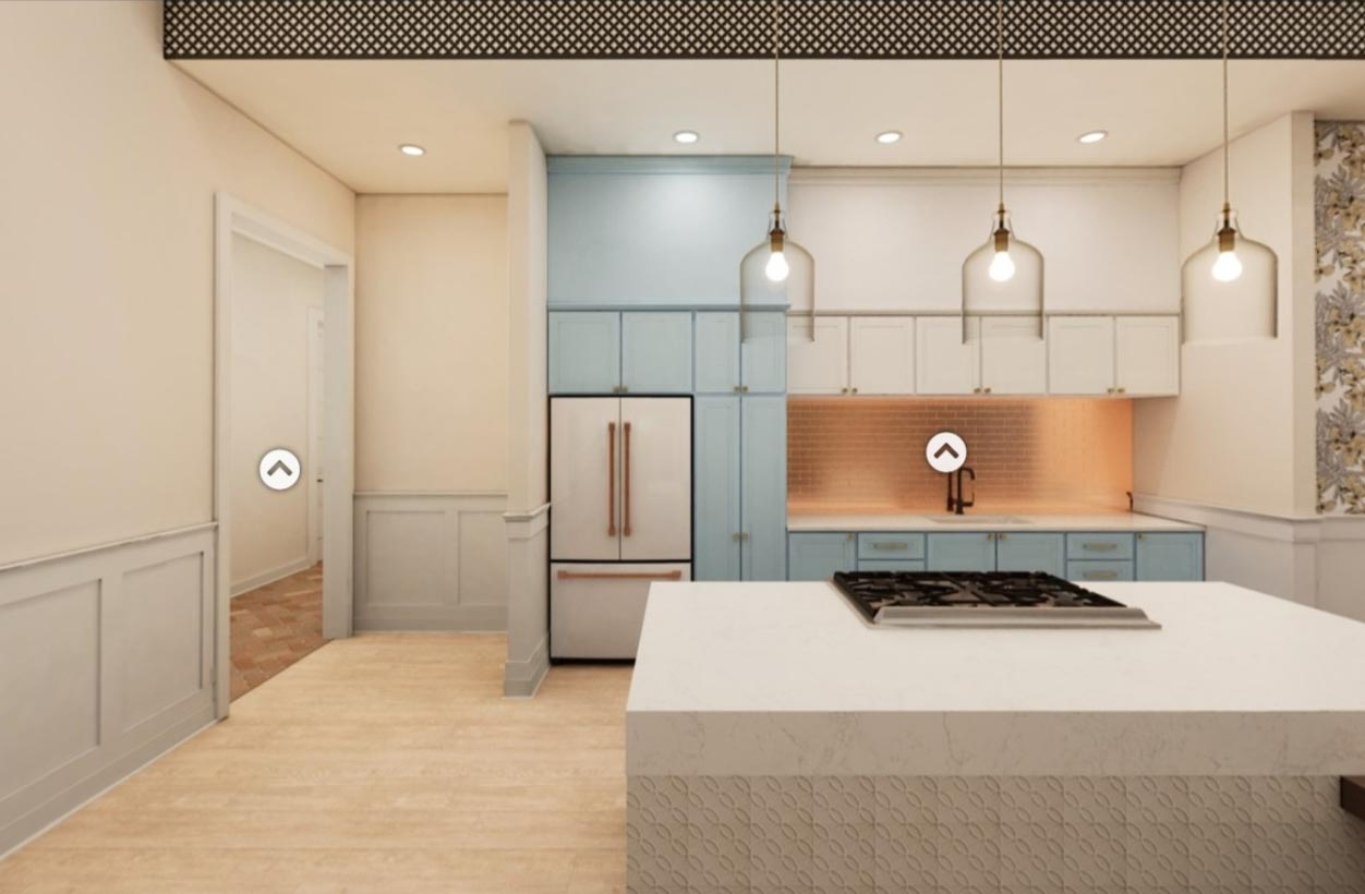 A kitchen design in Broadstone Ayrsley, iteration 2