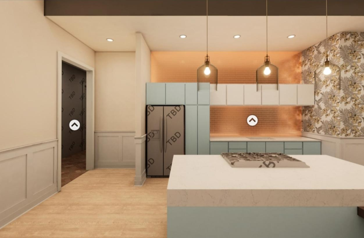 A kitchen design in Broadstone Ayrsley, iteration 1