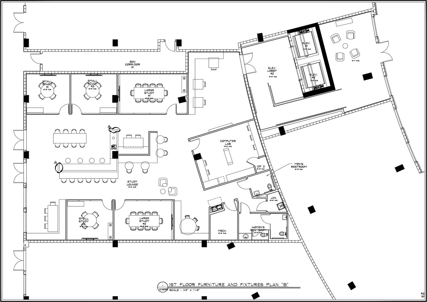 ID furniture fixtures and equipment plan