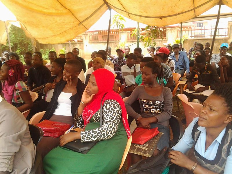 Young people listening attentively