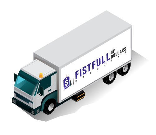 A Fistfull of Dollars distribution truck