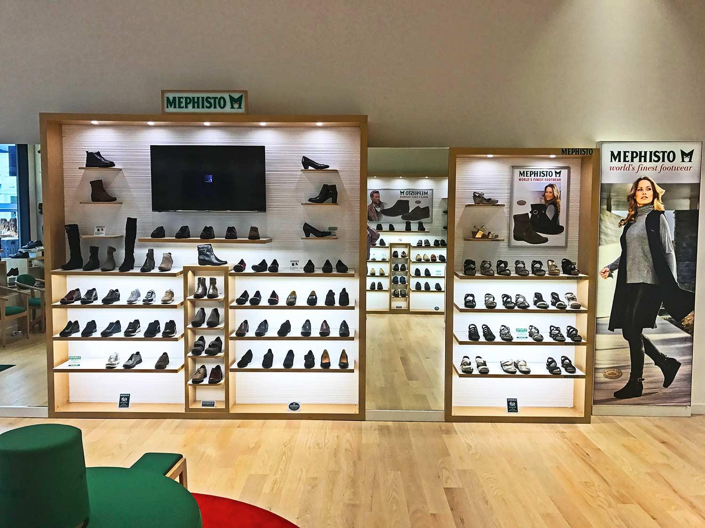 Mephisto retail store interior