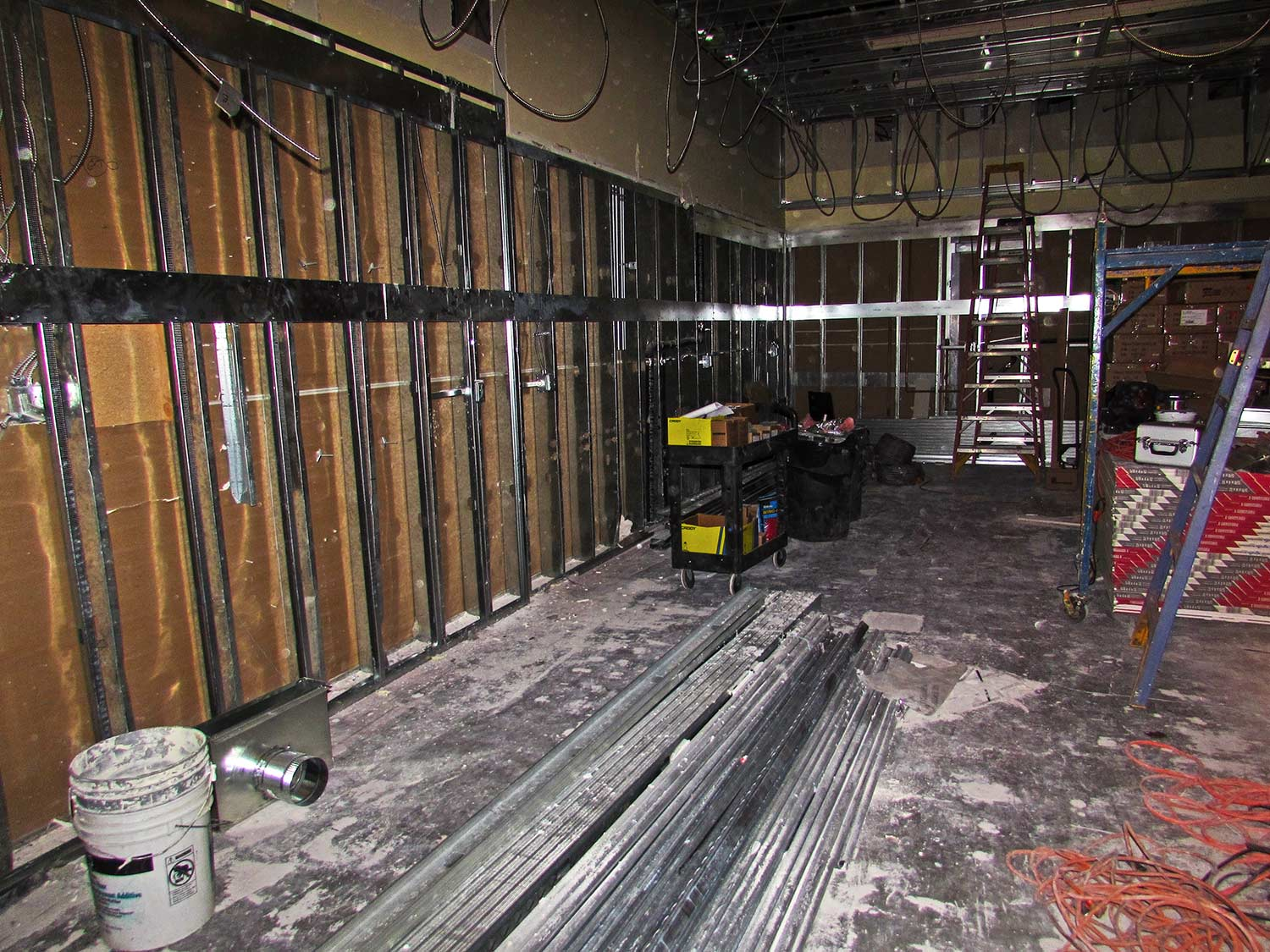 Construction site inside Isadora store