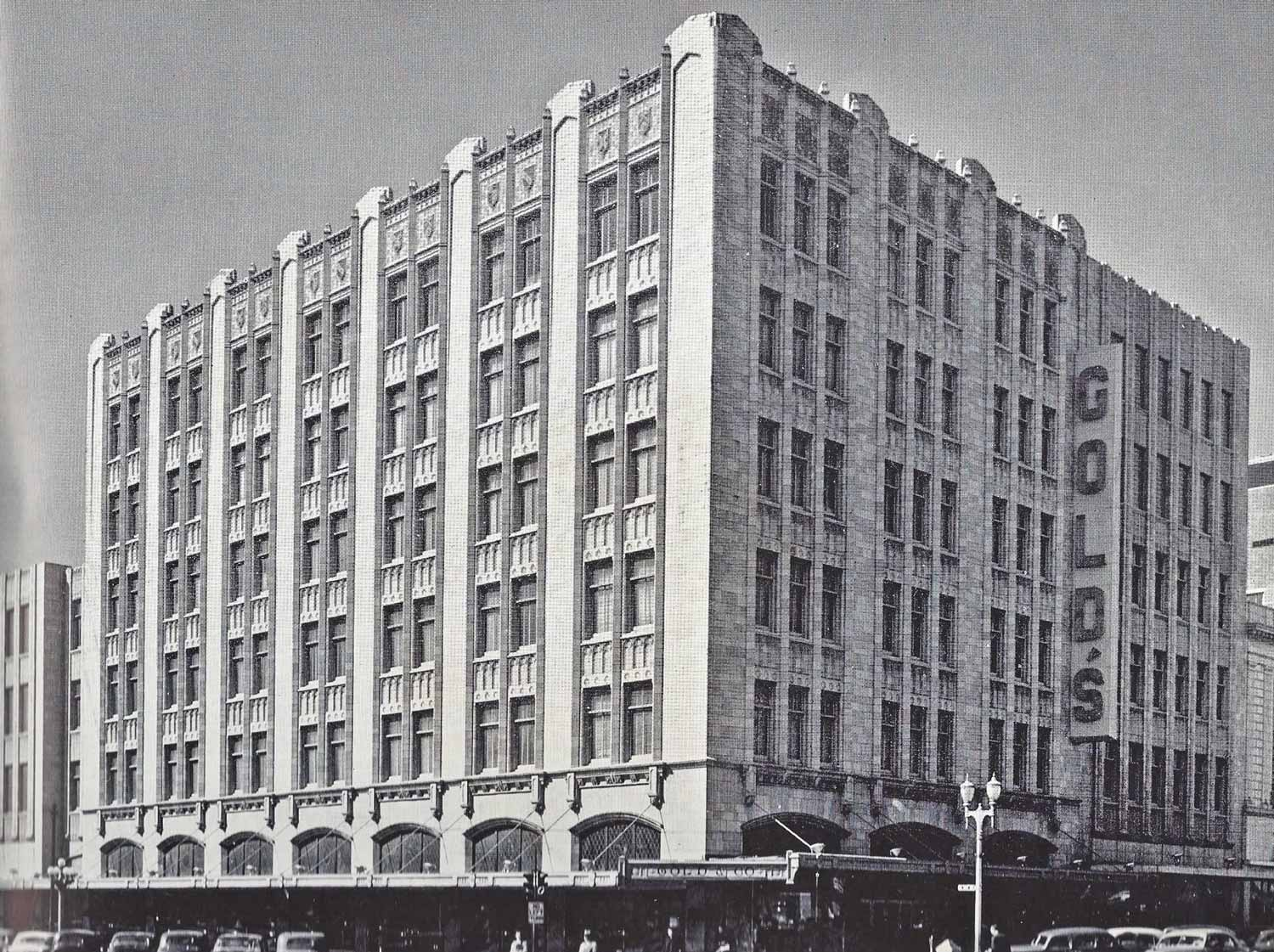 Gold's department store building exterior