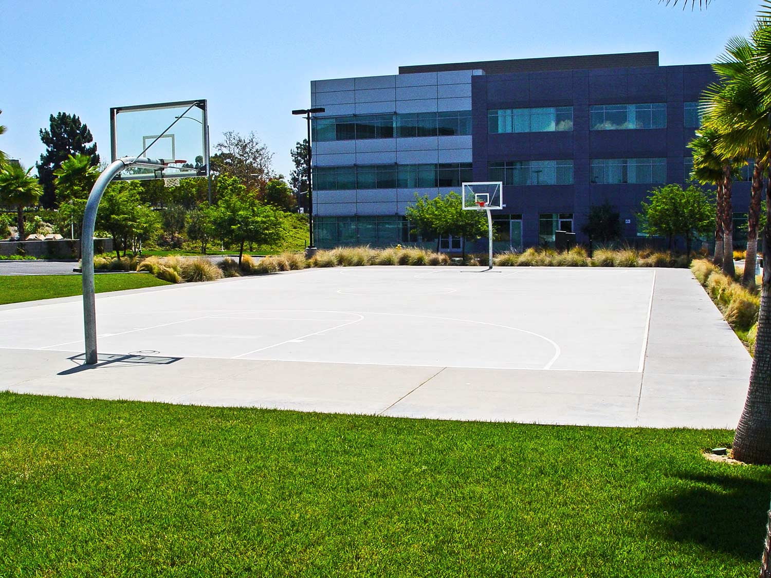 Basketball court outside the commercial offices in Rancho Bernardo